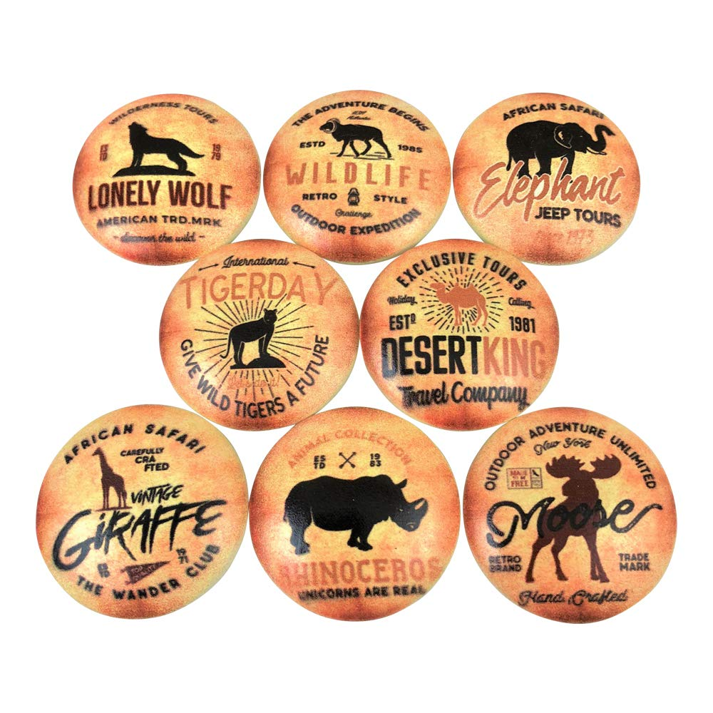 Set of 8 Wildlife Safari Tours Cabinet Knobs
