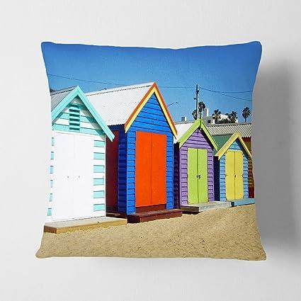 "Arty pie diseño de casetas de playa en Melbourne Australia 1 ""doble cara ante"