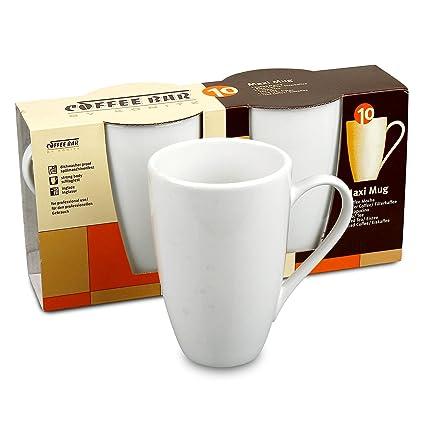 704bb3586 Amazon.com: Konitz Coffee Bar Maxi 13-Ounce Mugs, Set of 2, White ...
