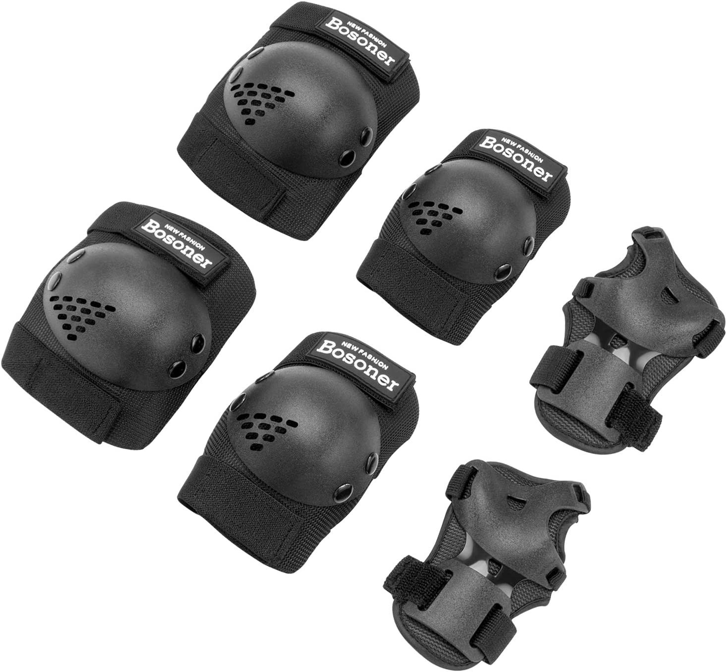 Adjustable Knee Pads Set Protective Pads Classic Wrist Guards Toddler 6in1 B2Z