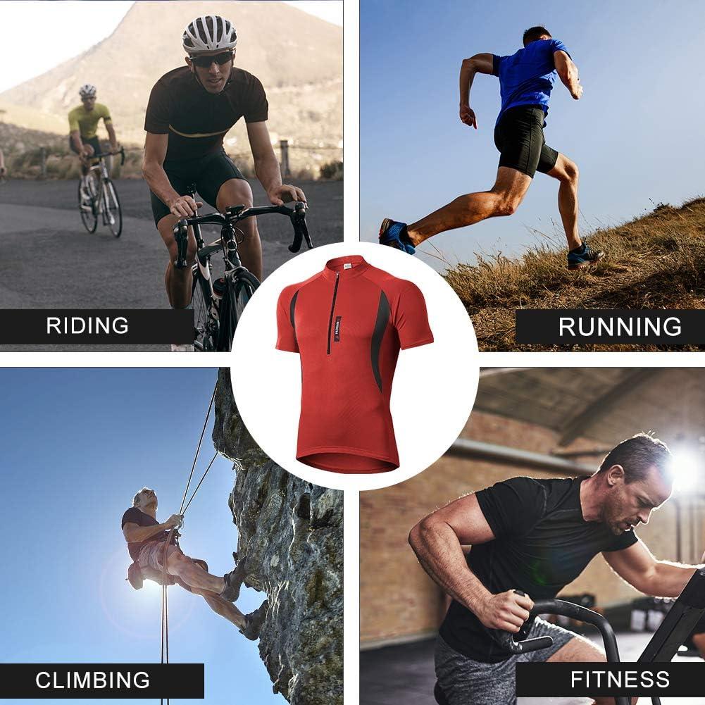 Atmungsaktive Cycling Jersey Schnell Trocknen Radsport Bekleidung Fahrradbekleidung Fahrrad Trikot T Shirt f/ür M/änner MEETWEE Herren Radtrikot Fahrradtrikot Kurzarm