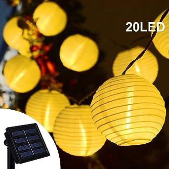 Guirlande Lumineuse Solaire Jardin, Makion 20 LEDS Lanterne ...