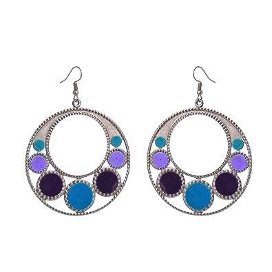 Zephyrr Earrings Multicolor Beaded Dangle /& Drop Contemporary Abstract Design For Women//Girls