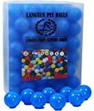 Langxun 3 inch Pack of 100 Blue Large Ball Pit Balls - Phthalate Free BPA Free Crush Proof Plastic Ball | Ideal Gifts for Kids & Photo Booth Props for Baby and Kids