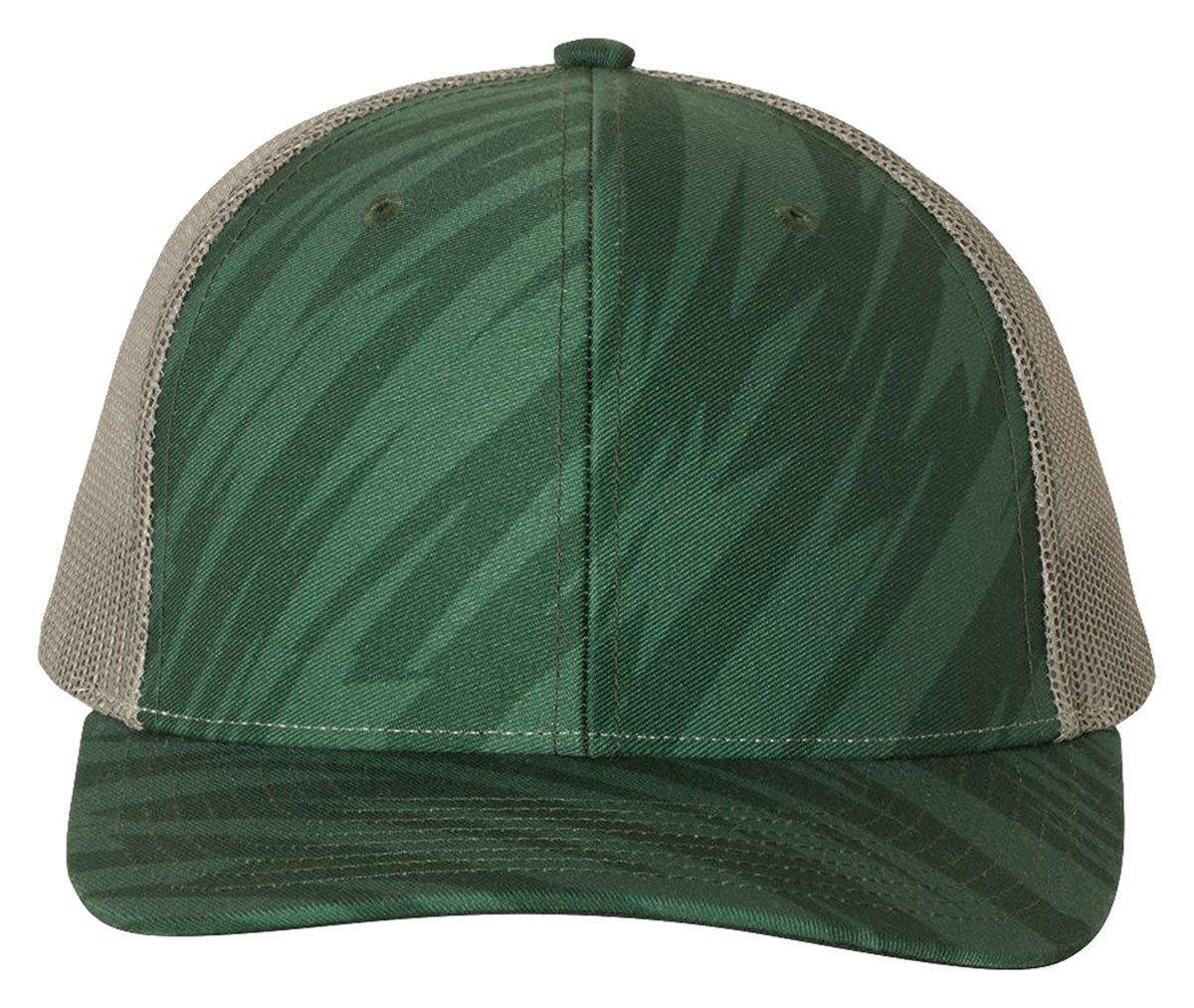 Richardson HAT メンズ B0778JPN28 Adjustable Streak Dark Green/ Charcoal Streak Dark Green/ Charcoal Adjustable