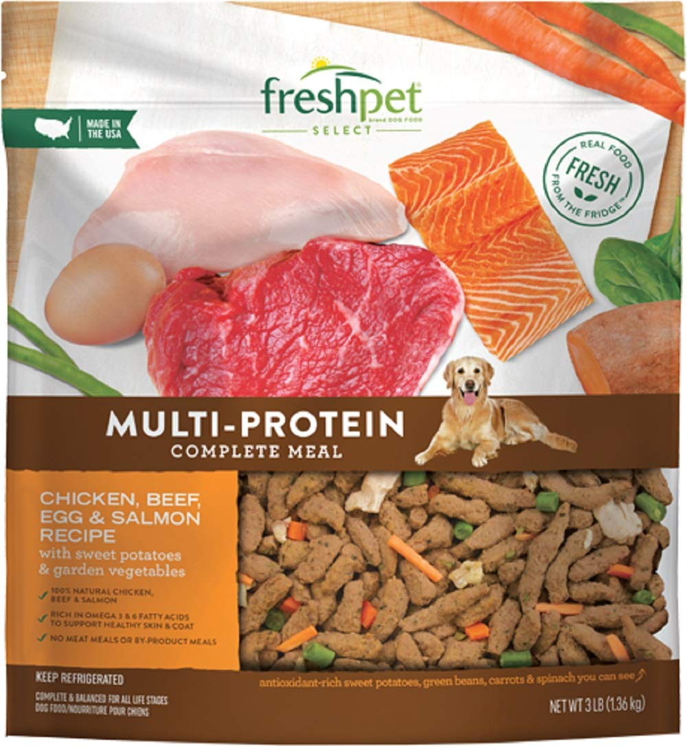 Freshpet Select Multi-Protein Dog Food Recipe, 3 Lb (Pack of 4) by Freshpet