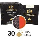 来自喜马拉雅的大吉岭茶,15包(2盒)长茶叶锥形大吉岭茶包 - 口感丰富&醇香,天然非调制,夏摘大吉岭茶,包装于印度