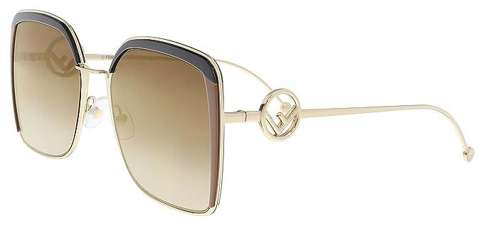 1cd3c3f4d1c Fendi F IS FENDI FF 0294 S BROWN BROWN SHADED women Sunglasses   Amazon.co.uk  Clothing