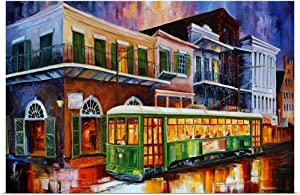 GREATBIGCANVAS The Old Desire Streetcar Fine Art Poster Print, New Orleans Home Decor Artwork, 36