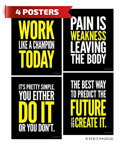 amazon com gym inspirational posters motivational fitness workout
