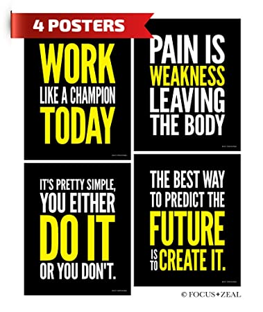 Gym Inspirational Quotes | Amazon Com Gym Inspirational Posters Motivational Fitness Workout