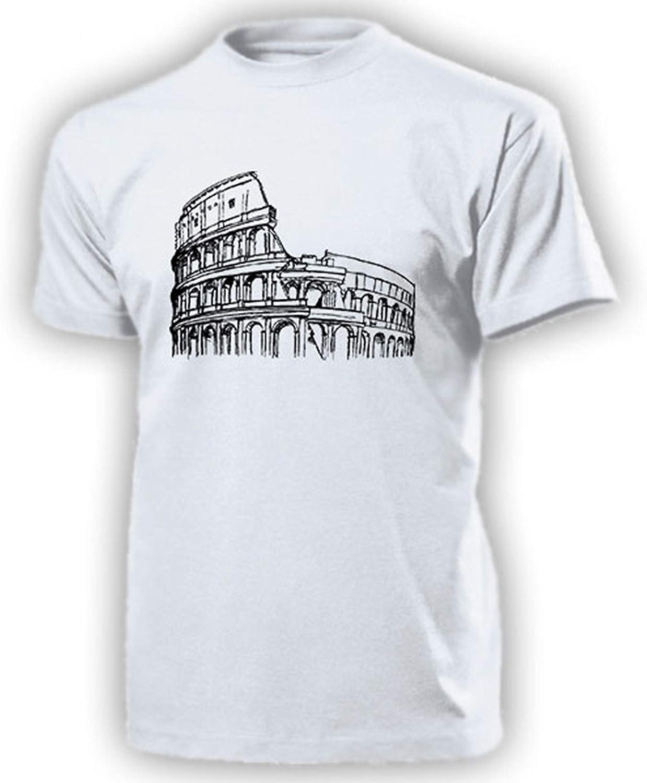 Colosseum intalien ROM Anfiteatro Romanos Antigua Roma Antigua Diseño de Römer – Camiseta # 14249 Weiß Large: Amazon.es: Ropa y accesorios