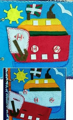 Juguete Educativo, Libro Sensorial , Libro Estilo Montessori , Libro de paño blando, Juguete