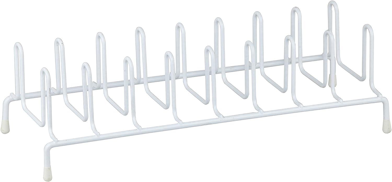 Home Basics PR30379-6 Plate Rack, 13 x 5.5 x 4, White