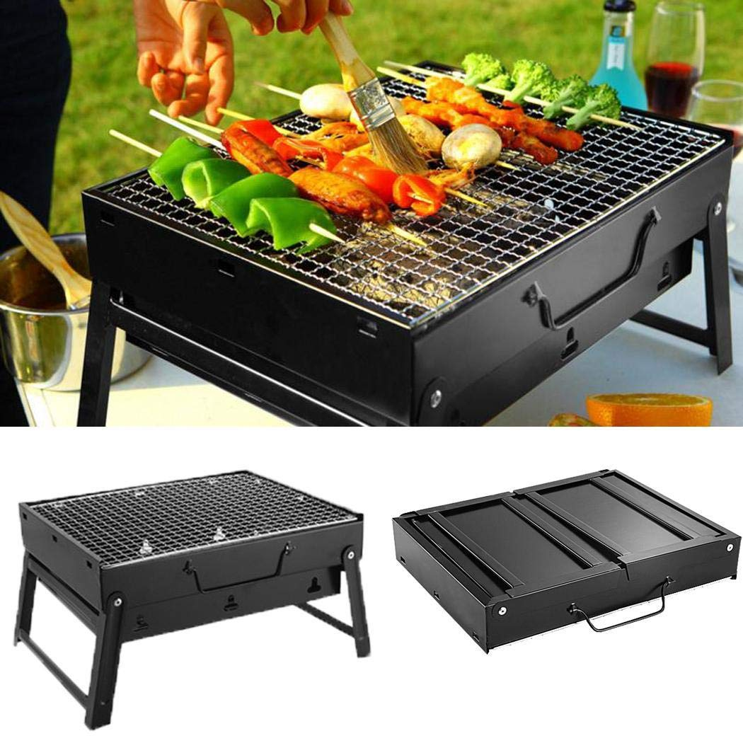 Dongtu Portable Barbecue Grill Foldable Charcoal Barbecue Oven Outdoor BBQ Picnics Grill Stands & Shelves by Dongtu