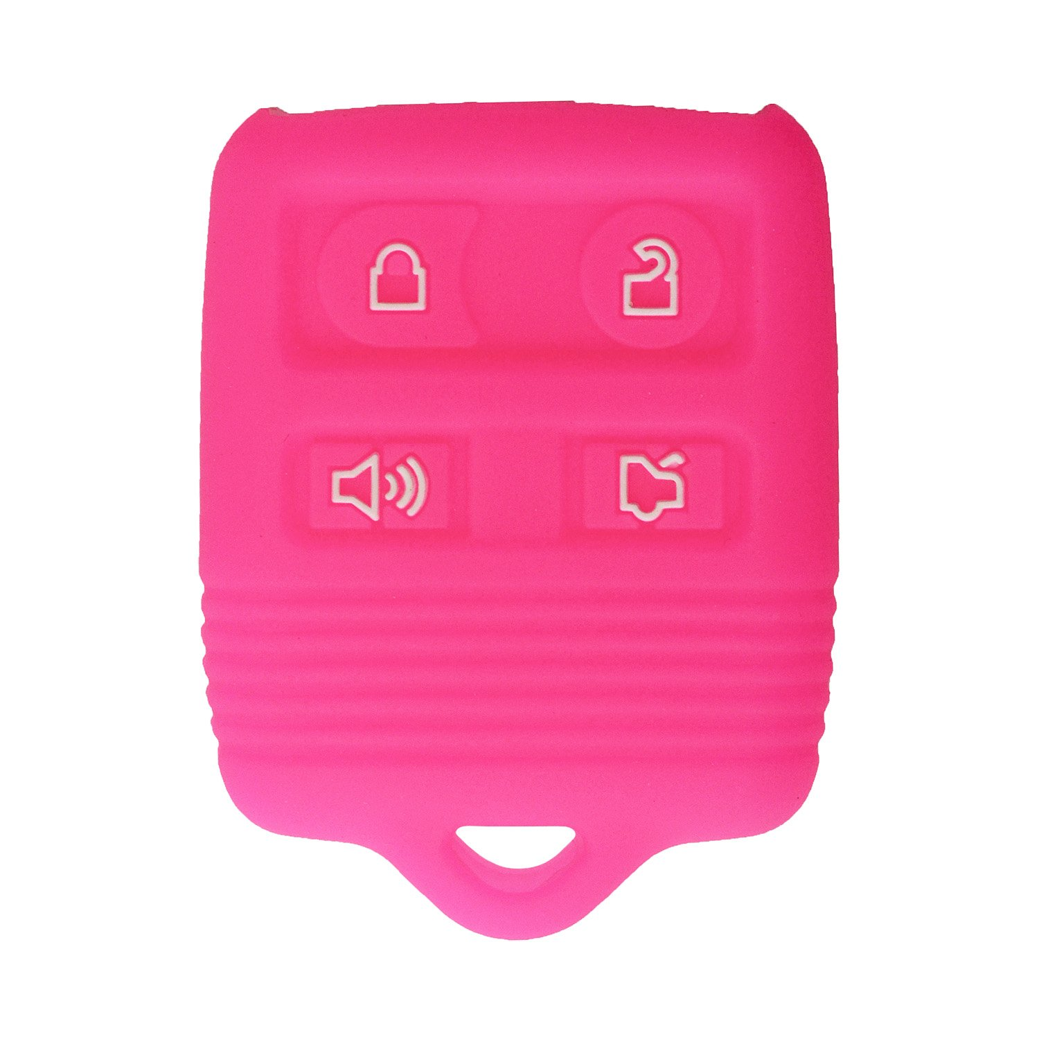 CWTWB1U345 Part #2S4T-15K601-AB with Keytag Return Service CWTWB1U331 qualitykeylessplus Protective Rubber Silicone Cover for 4 Button Ford Keyless Entry Remote Fobs FCC ID