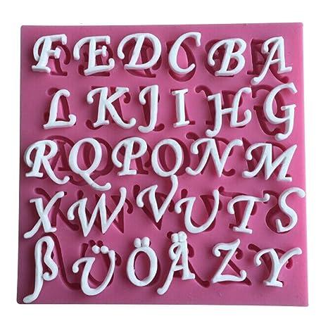 26 Inglés Cartas de silicona 3d molde utensilios de cocina comedor Bar antiadherente Decoración de Pasteles