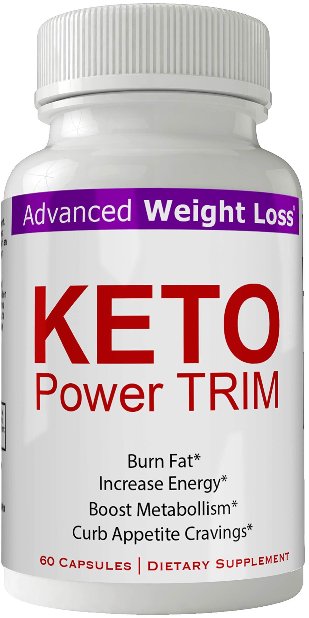 Keto Power Trim Weight Loss Pills - Keto Power Trim Pills Keto BHB Capsules Keto Trim Diet 60 Capsules Advanced Weight Loss 800 mg Formula Supplements - Keto BHB Exogenous Ketones Keton Salts Tablets