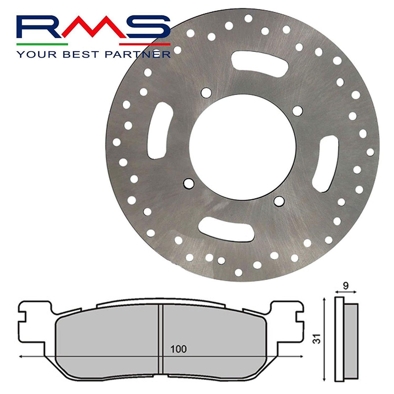plaquettes de frein arri/ère pour Yamaha X-Max 250/2005//2009 RMS Kit complet de disque