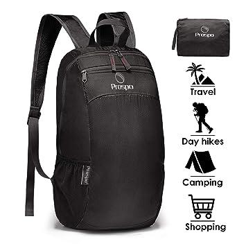 Prospo 20L Foldable Ultralight Stuff Pack Small Lightweight Packable  Backpack Rucksack Multipurpose Daypacks for Outdoor Walking 57533f0d61a80
