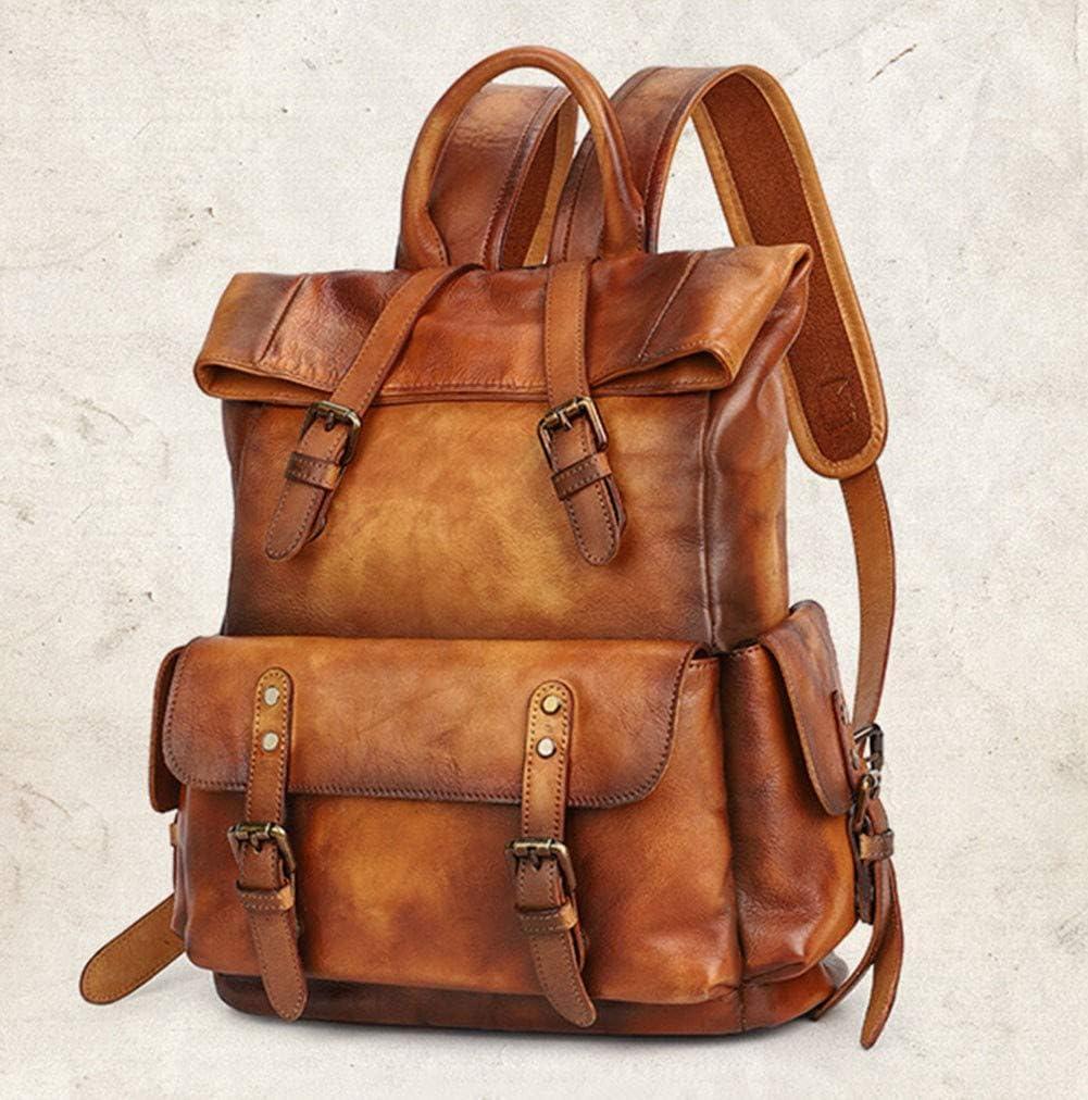 Backpack bag female bag top layer cowhide leather wild//rivet