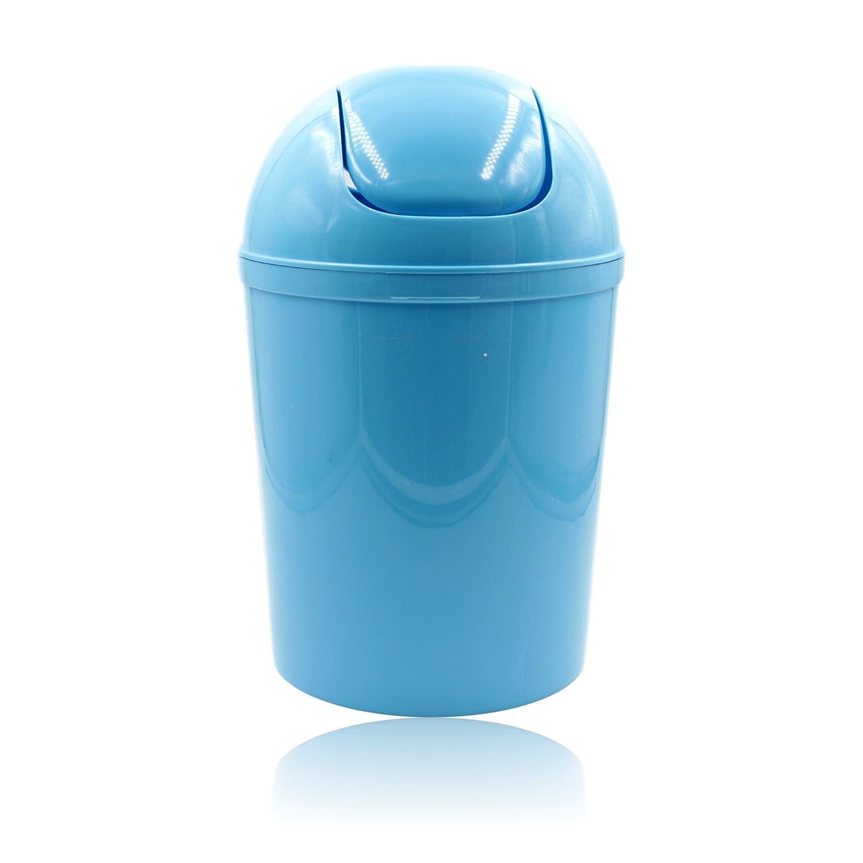 Blue Swing Top Plastic Bathroom Bin H32cm / 5 Litre: Amazon.co.uk ...