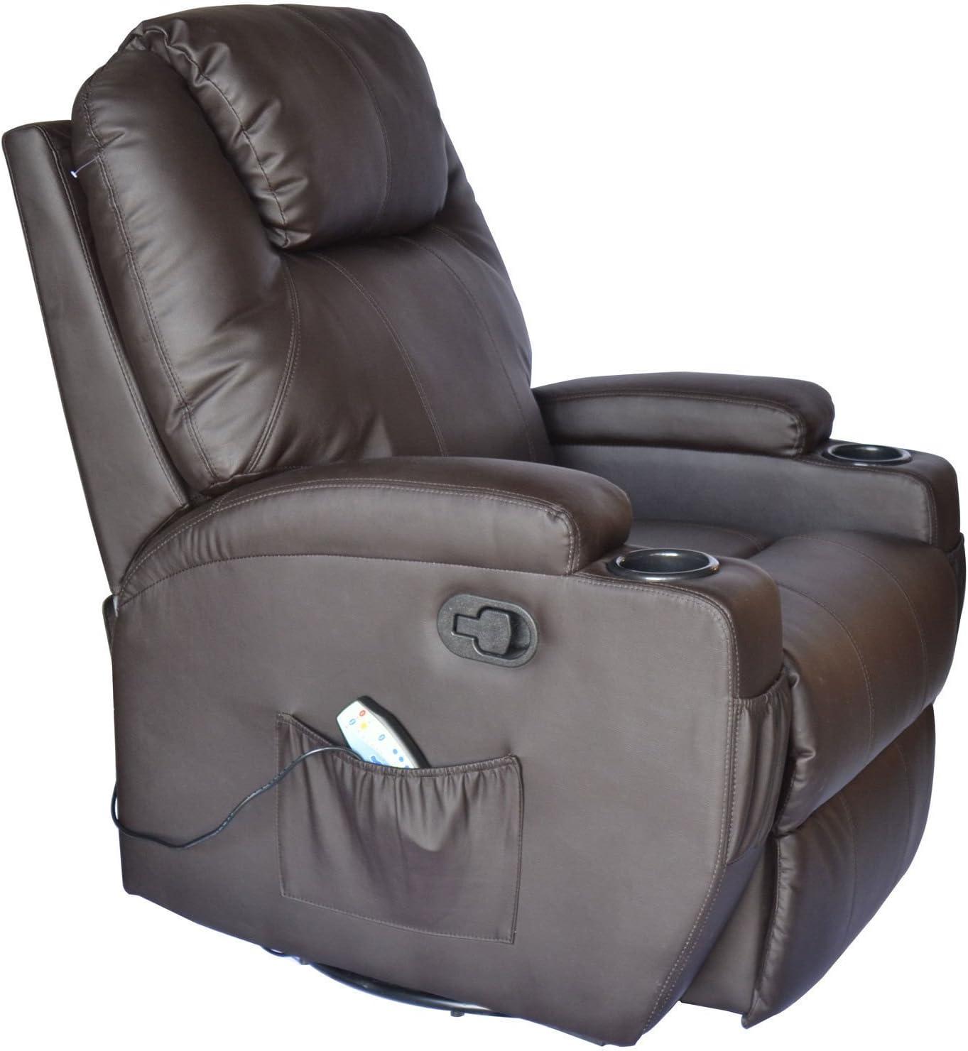 Homcom PU Leather Padded Recliner elegant design