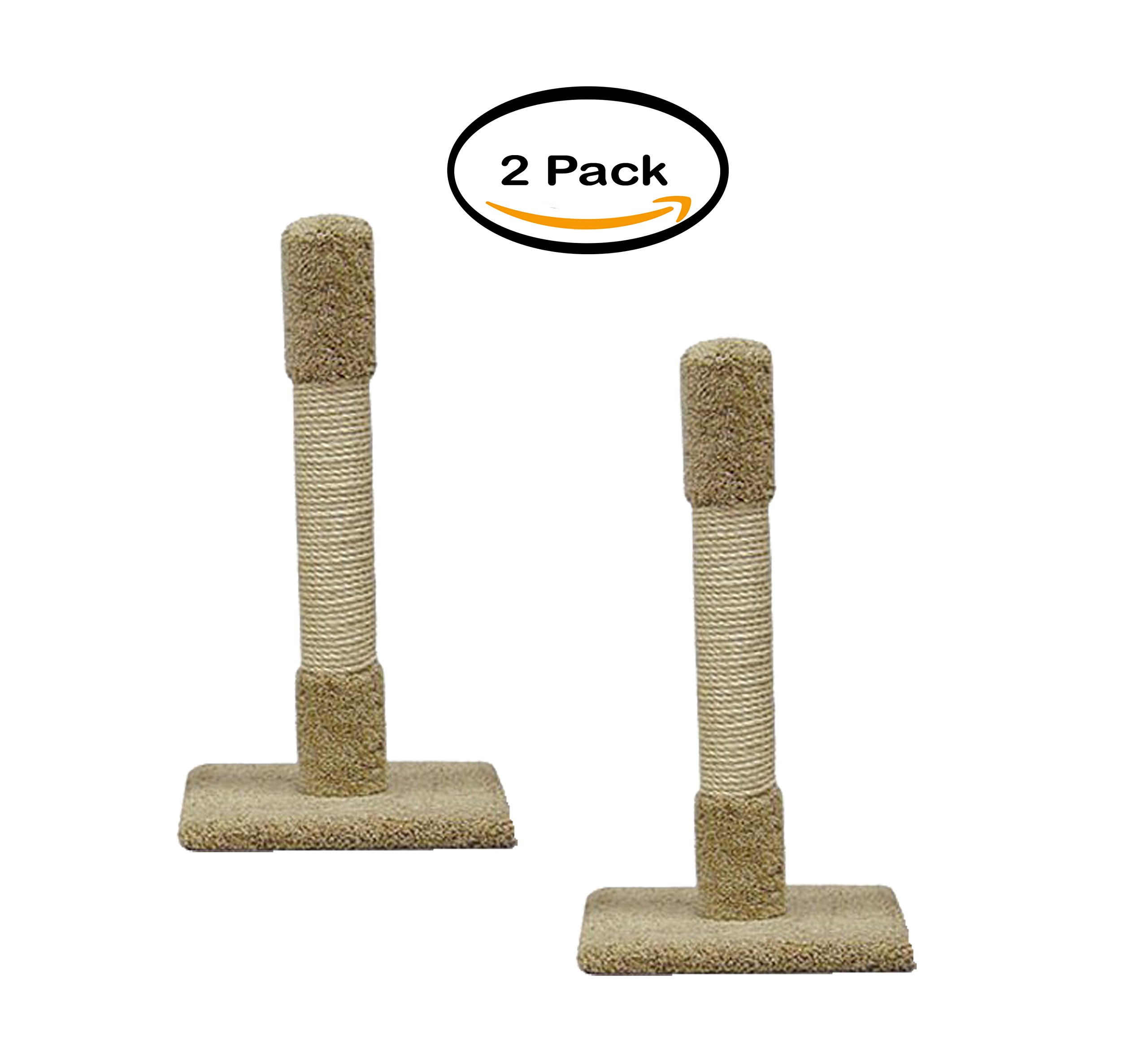 PACK OF 2 - 30'' Multi-Material Cat Scratching Post (Colors May Vary)