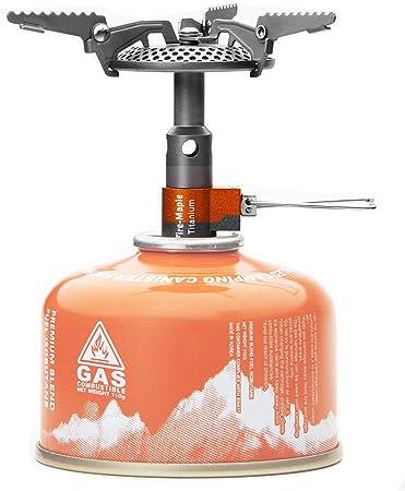 Fire-Maple FMS 116T hornillo estufa integrado de gas titanio para cocina de camping acampada senderismo picnic supervivencia al aire libre