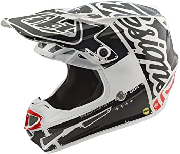 Casco Mx Troy Lee Designs 2018 Se4 Factory Polyacrylite Blanco (L , Blanco)
