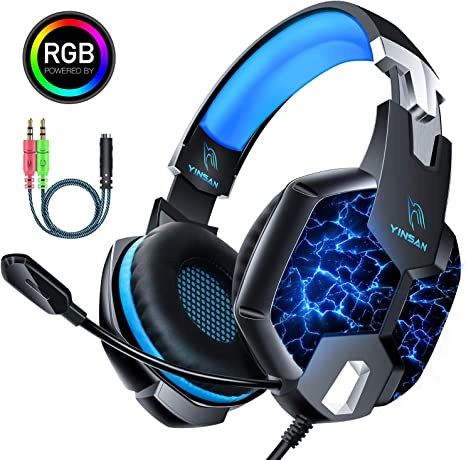 Auriculares Gaming PS4, YINSAN Cascos Gaming Premium Estéreo con ...