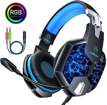 Auriculares Gaming PS4, YINSAN Cascos Gaming Premium Estéreo con ...