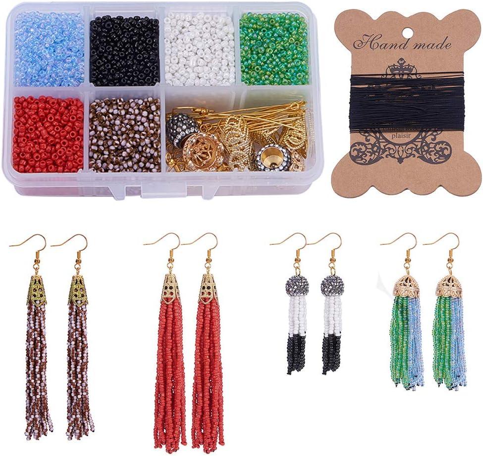 Silver Beads Work Tassels By Pair