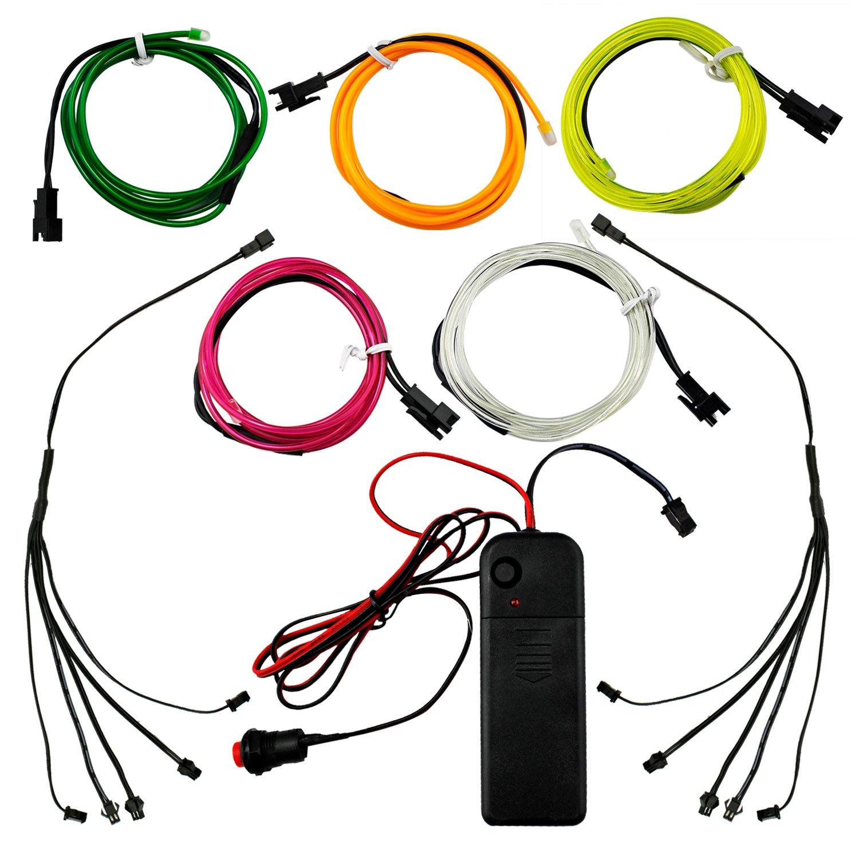 Elektrolumineszenz-Draht (EL Wire) 1 Meter Glowing Strobing Neon ...
