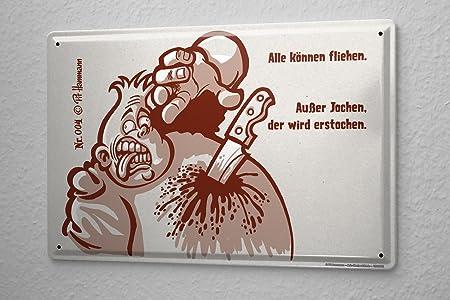 Cartel de chapa Placa metal tin sign No Pit Hammann 4 huir ...