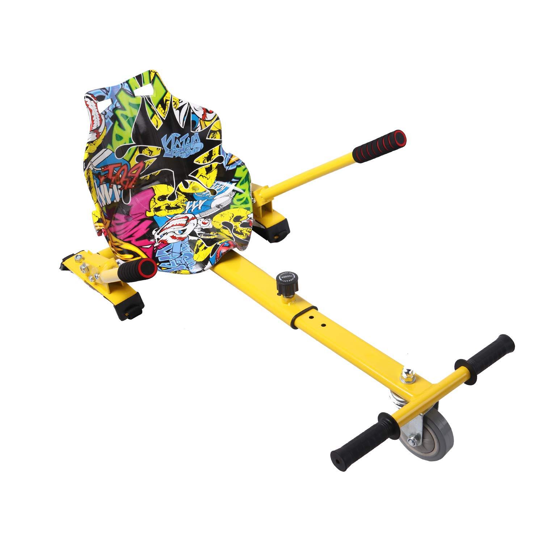 RCB Hoverkart para Patinete eléctrico Asiento Kart para Self Balancing Scooter Longitud Ajustable, Compatible con Todos los patinetes - 6.5/8 / 8.5/10 ...