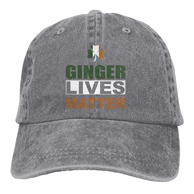 ONE-HEART HR Ginger Lives Matter - Kiss Me I m Irish Adult Cowboy Baseball  Caps Denim Hats for Men Women at Amazon Men s Clothing store  dd87a094b8e