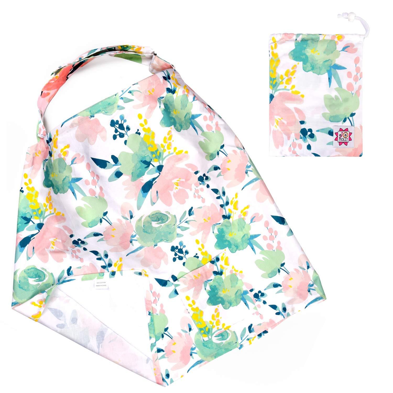 Baby-Stillsch/ürze und breiter Sichtschutz Stillsch/ürze Blumen