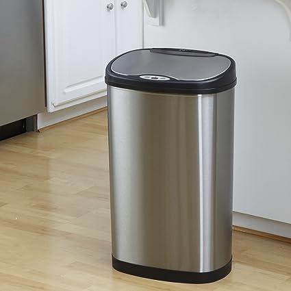 Sensor de movimiento activado basura cubo de la basura de la nueva comida de reciclaje de