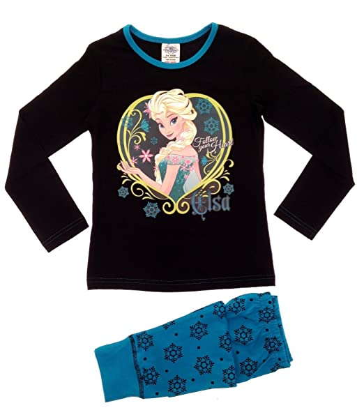 9f23ccadc Girls Disney Frozen Ann and Elsa Pyjamas Sizes 3 to 10 Years  Amazon ...