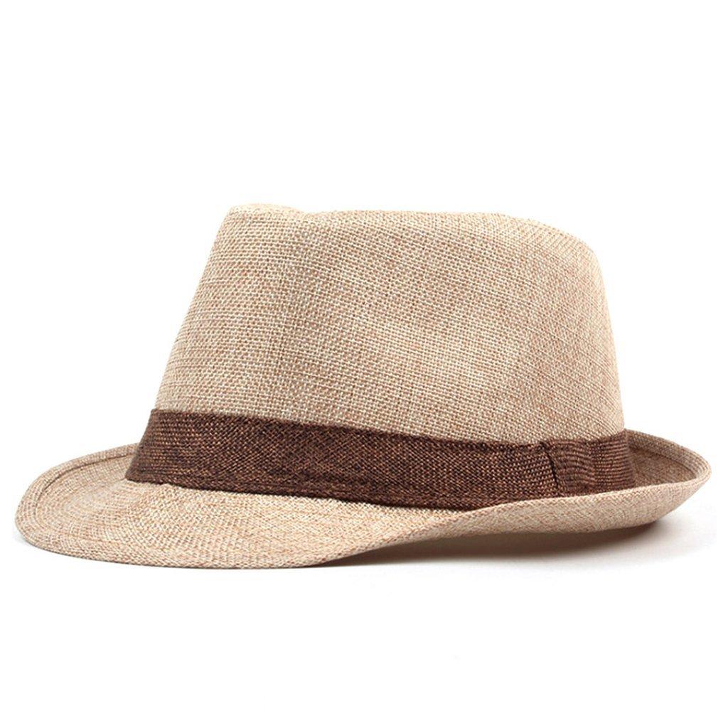 Summer Straw Hat Jazz Cap Men Women Classic Panama Caps Fedoras Sun Hat