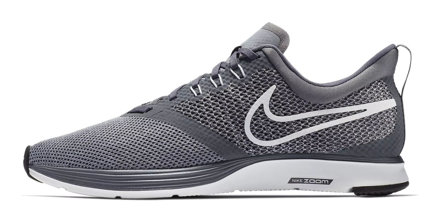 NIKE Women's Zoom Strike Running Shoe B06XTZQLHL 13 D(M) US|Dark Grey/White-stealth-black