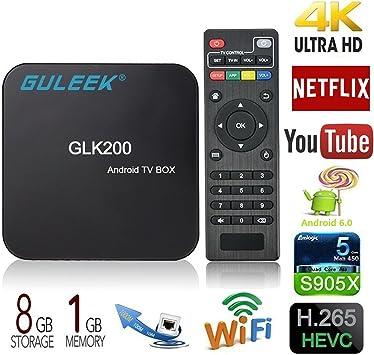 Guleek T95 Amlogic S905 Quad Core Android 5.1.1 inteligente 1080p HDMI 4 K libre MX M8 TV Box Kodi XBMC: Amazon.es: Electrónica