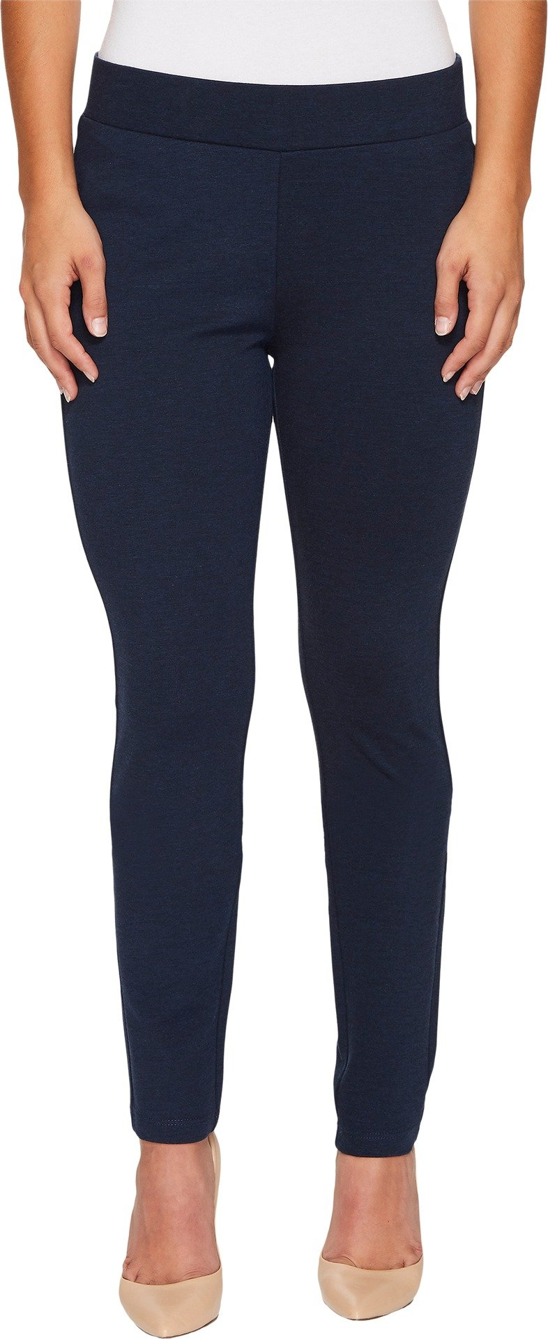 NYDJ Women's Petite Size Basic Pull on Ponte Knit Leggings, Peacoat Heather, 18P