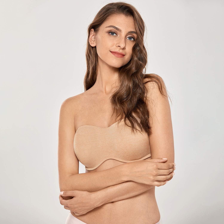 DELIMIRA Sujetador Reductor con Aros sin Relleno sin Tirantes Tallas Grandes para Mujer