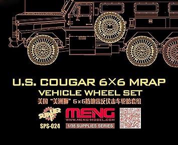 MENG 1:35 Scale US Cougar 6 x 6 MRAP Vehicle Model Kit Multi-Colour