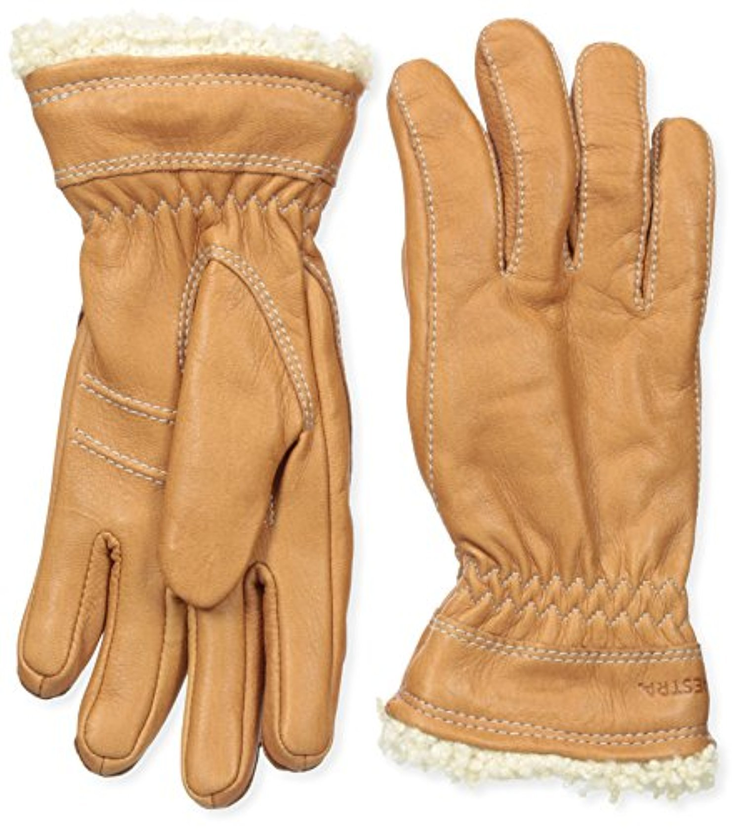 Hestra Women's Deerskin Primaloft Gloves Cork 6 & Knit Cap Bundle by Hestra