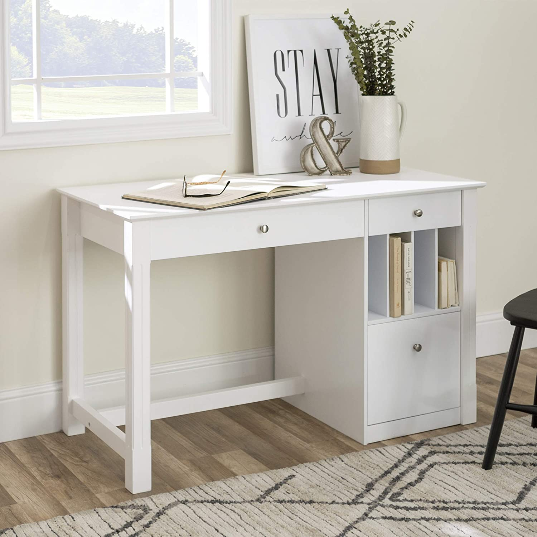 Modern Wood Computer Writing Desk Storage File Drawer Office Amazon Ca Home Kitchen