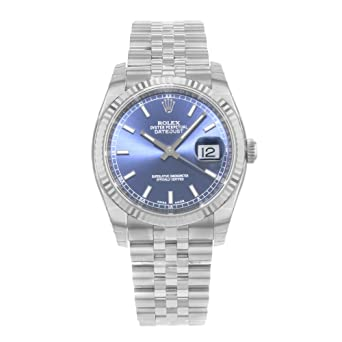 80b08f742cd5 Image Unavailable. Image not available for. Color  Rolex Oyster Perpetual  Datejust 36mm Stainless Steel ...
