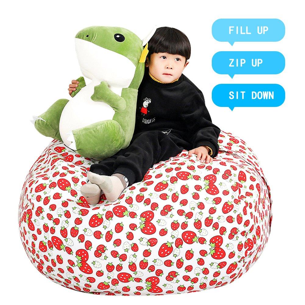 Details About Stuffed Animal Storage Kidsu0027 Bean Bag Chair   Cotton Canvas  Childrenu2019s Plush